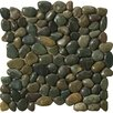 Emser Tile Natural Stone Rivera Random Sized Marble Pebble Honed Mosaic in Green
