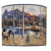 "<strong>Illumalite Designs</strong> 11"" Wild Elk Drum Shade"