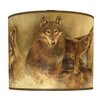 "<strong>Illumalite Designs</strong> 11"" Howling Wolves Drum Shade"