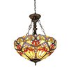 Chloe Lighting Victorian 2 Light Byron Inverted Ceiling Pendent