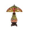 """<strong>Chloe Lighting</strong> Dragonfly Anisoptera Purity 25.2"""" H Table Lamp with Bowl Shade"""