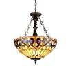 <strong>Chloe Lighting</strong> Victorian 3 Light Serenity Inverted Ceiling Pendant