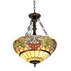 <strong>Chloe Lighting</strong> Victorian 2 Light Hester Inverted Ceiling Pendent