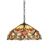 <strong>Chloe Lighting</strong> Victorian 2 Light Byron Ceiling Bowl Pendant