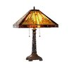 """Chloe Lighting Mission Innes 22.4"""" H Table Lamp with Square Shade"""