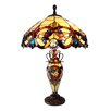 "Chloe Lighting Demetra Aurora 26"" H Table Lamp with Bowl Shade"