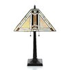 "Chloe Lighting Tiffany 23"" H Table Lamp with Square Shade"