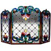 Chloe Lighting Tiffany 3 Panel Bronze Fireplace Screen