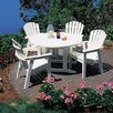 <strong>Seaside Casual</strong> Shell Back 5 Piece Dining Set