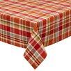 Design Imports Pumpkin Patch Plaid Tablecloth