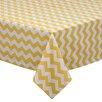 Design Imports Snapdragon Chevron Table Cloth
