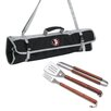 <strong>Picnic Time</strong> NCAA 3 Piece BBQ Tool Set with Tote