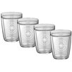 Kraftware Compass Point Everyday Tumbler (Set of 4)