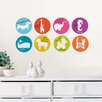 <strong>WallPops!</strong> Jonathan Adler Menagerie Weekly Dots Dry Erase Wall Decal