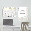 <strong>WallPops!</strong> Dry Erase Globe Trotter Message and Calendar Chalkboard Wall Decal