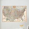 WallPops! Art Kit National Geographic USA Map Wall Mural