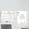 Dry Erase Globe Trotter Message Board and Calendar Wall Decal