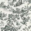 Brewster Home Fashions Ink Toile Wallpaper Sample