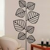 <strong>Brewster Home Fashions</strong> Euro Leaves Flock Wall Decal