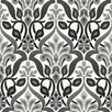 Brewster Home Fashions Simple Space II FusionOmbre Damask Wallpaper