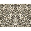 Brewster Home Fashions Brilliance Guinevere Baroque Marquetry Damask Wallpaper
