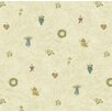 Brewster Home Fashions Borders by Chesapeake Mazy Hearts Dolls Toss Polka Dot Wallpaper