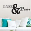 Brewster Home Fashions WallPops Love and Peace Small Wall Decal Kit