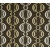 Verve Retro Orb Wallpaper in Gold / Chocolate Brown