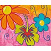 Brewster Home Fashions Ideal Decor Spring Flowers Wall Mural