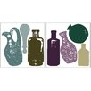<strong>Brewster Home Fashions</strong> Home Décor Bottle Wall Decal