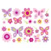 <strong>Brewster Home Fashions</strong> Fun4Walls Stikarounds Flowers and Butterflies Wall Decal