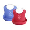 <strong>Soft Bib Two Pack in Bright Red and Ocean Blue</strong> by BabyBjorn