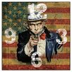 Smith & Taylor American Uncle Sam Square Wall Clock