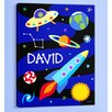 <strong>Olive Kids</strong> Out of This World Personalized Canvas Art