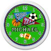 "Olive Kids Game On 12"" Personalized Wall Clock"