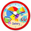 """<strong>Summer 12"""" Personalized Wall Clock</strong> by Olive Kids"""
