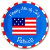 American Flag Personalized Kids Plate