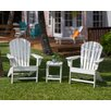 <strong>POLYWOOD®</strong> South Beach 3 Piece Adirondack Seating Group