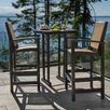 POLYWOOD® Coastal 3 Piece Bar Dining Set (Set of 3)