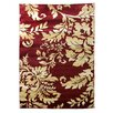 DonnieAnn Company Tiffany Red/Beige Floral Area Rug