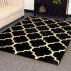 DonnieAnn Company Tiffany Black Geometric Area Rug