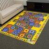 DonnieAnn Company Paradise Alphabets Stacking Block Outdoor Area Rug