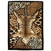 <strong>DonnieAnn Company</strong> Skinz 72 Mixed Tiger and Animal Skins Print Patchwork Design Rug