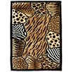 <strong>DonnieAnn Company</strong> Skinz 74 Mixed Animal Skin Prints Patchwork Design Rug