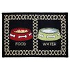 Park B Smith Ltd PB Paws & Co. Multi / Black Meal Time Tapestry Rug
