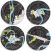"<strong>notNeutral</strong> City On A Plate 12"" Dinner Plates Holiday Gift Set (Set of 4)"