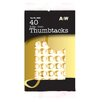 "0.37"" Brass Thumbtack (40 Count)"