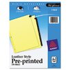 Avery Clear Reinforced Preprinted  Tab Dividers inRed Leather