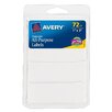 """<strong>Avery</strong> 1"""" x 3"""" Rectangular Removable Label 72 Count"""