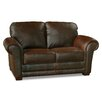 Luke Leather Mark Loveseat
